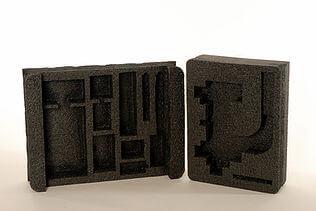 black protective packaging foam