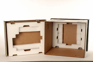 white protective packaging foam