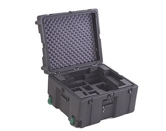 industrial case with foam