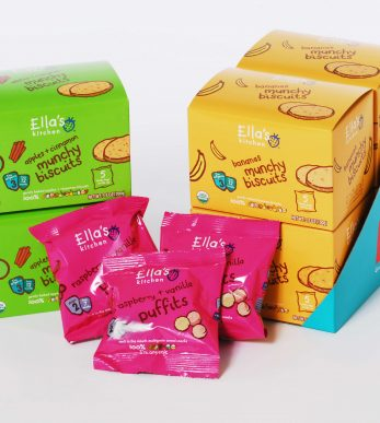 Ellas Kitchen snack packaging