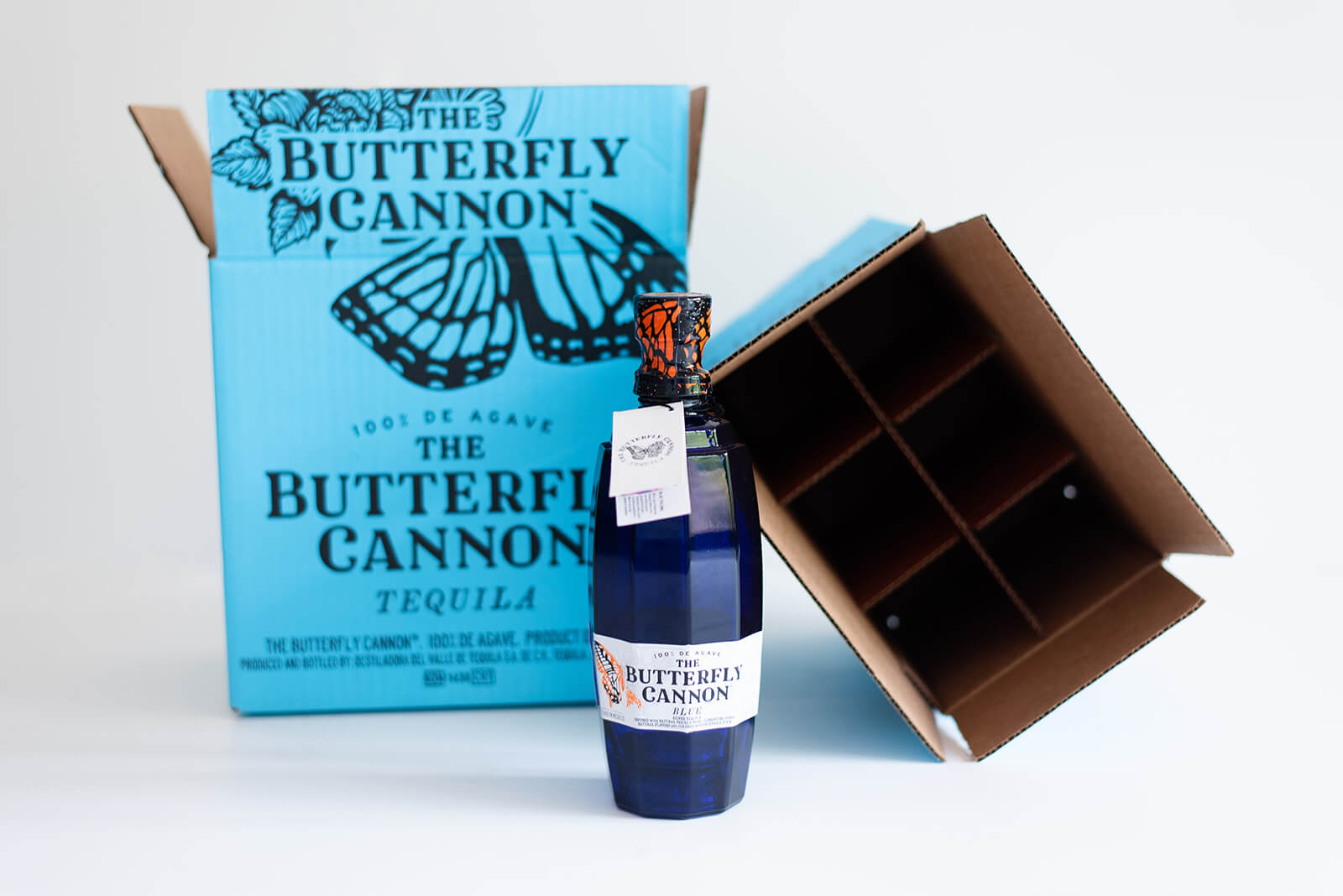 Butterfly Cannon bottle and package