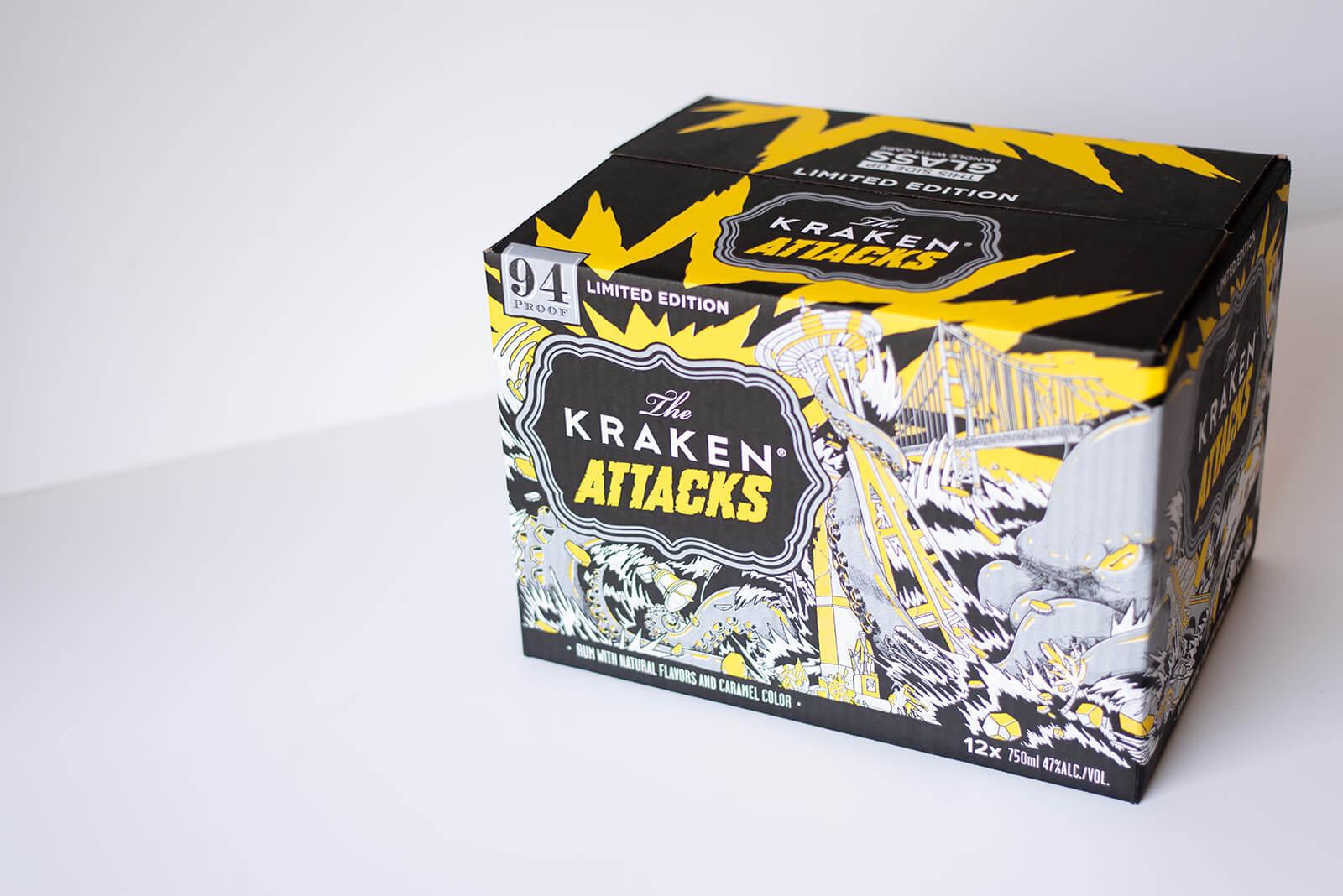 Kraken Designed Liquor Box